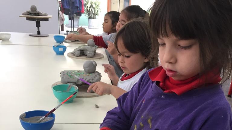 Inicial: En clase de cerámica